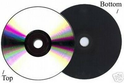 600-Pak =Silver/BLACK= 52X 80-Min CD-R's! Shiny-Silver Top, BLACK Bottom!