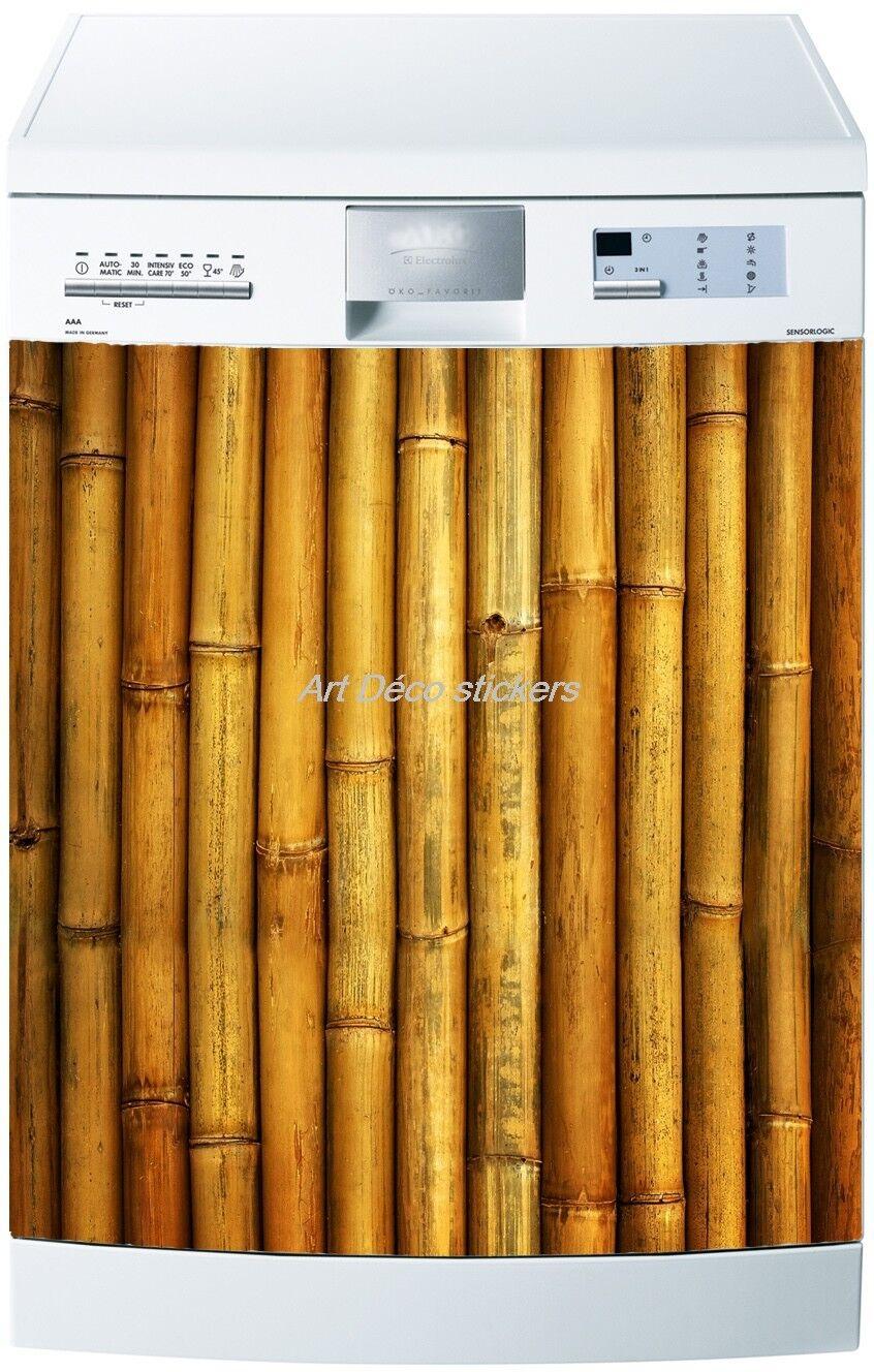 Adesivo Lavastoviglie Decocrazione Elettrodomestici Bambù Ref 228 60x60cm
