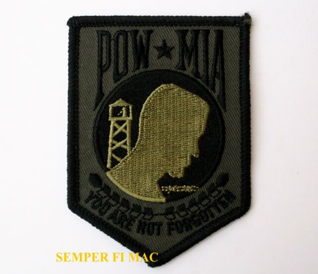 POW MIA YOU ARE NOT FORGOTTEN HAT PATCH GREEN PIN UP US MARINES ARMY NAVY USAF