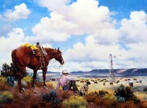 "Jack Sorenson ""The Overseers"" SN Cowboy Art Print 24"" x 18"""