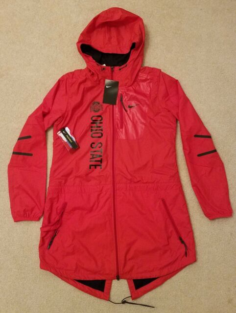 Nike Ohio State Buckeyes Womens Packable Jacket S Red