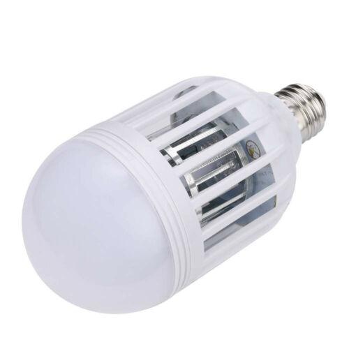 2x E27 Light Zapper LED Light Bulb Bug Mosquito Fly Insect Killer Bulb Lamp BT