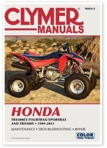 Clymer M454-5 Service Shop Repair Manual Honda TRX400EX Fourtrax TRX400X 99-13
