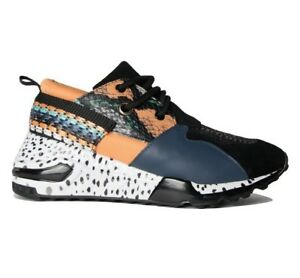 7c5ea06317 Steven Women s NEW Cliff Fashion Sneakers CLIF02S1 Orange Multi ...