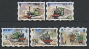 Jersey-1985-Chemin-de-Fer-Histoire-2nd-Series-Ensemble-MNH-Sg-365-9