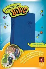 NLT HANDS-ON BOYS BIBLE LEATHERLIKE BLUE. TYNDALE HOUSE. NEW. SAVE 26%.