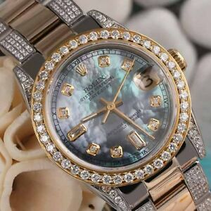 Rolex-31mm-Datejust-Tahitian-MOP-8-2-Diamond-Dial-2-Tone-Oyster-Ladies-Watch