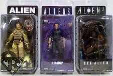 "KANE BISHOP & DOG ALIEN Aliens 7"" inch Movie Figures Set of 3 Series 3 Neca 2014"