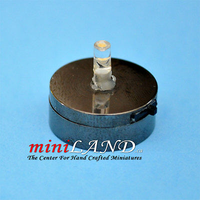 DIY LED BRIGHT BASE BLAKE ON/OFF SWITCH  BATTERY BRIGHT dollhouse miniature 1:12