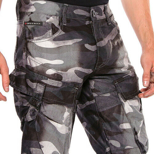 CIPO /& Baxx Thunder Camouflage Hommes Cargo Jeans cd560 Toutes Tailles Neuf
