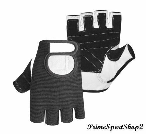 WEIGHT LIFTING PADDED GLOVES FITNESS TRAINING BODY BUILDING GYM SPORTS