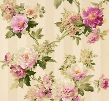Tapete Romantica Blumen beige grün Glanz AS Creation 30446-2 (5,35€/1qm)