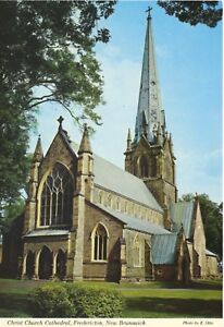 Christ-Church-Cathedral-Fredericton-NB-New-Brunswick-Postcard-D9