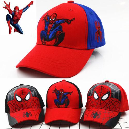 SPIDERMAN Boy Girl Adjustable Baseball Cap Kids Snapback Children SCHOOL Hat UK