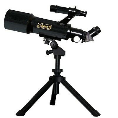 Coleman Astrowatch AT70 Portable 70mm Refractor Telescope with Tripod & Software