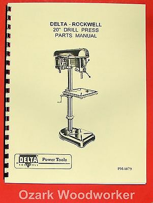 """Competent Rockwell-delta 20"""" Drill Press Operators Parts Manual 0641 Cnc, Metalworking & Manufacturing Business & Industrial"""