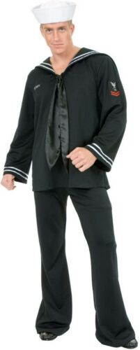 South Seas Sailor Sea Navy Popeye Black Dress Up Deluxe Halloween Adult Costume