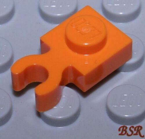 6055326 /& NEU ! HR46 30 Stück orange 1x1 Platte mit Clip vertikal 60897