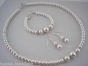 6-perle-CRYSTAUX-diamants-Set-bijoux-collier-de-Mariage-Demoiselle-d-039-honneur
