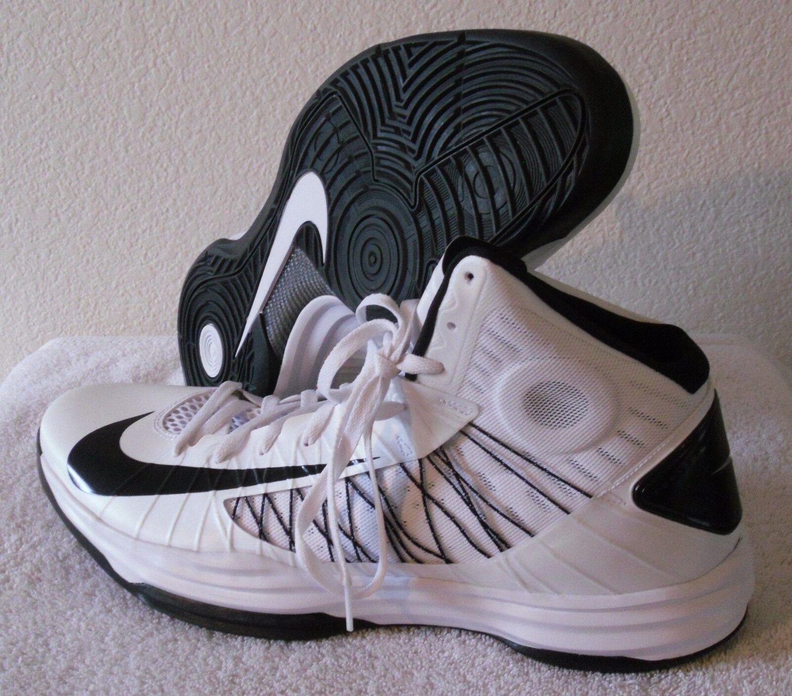 NEW Nike Hyperdunk TB hommes Basketball Chaussures 125 18 blanc/ noir MSRP 125 Chaussures 6dab2c
