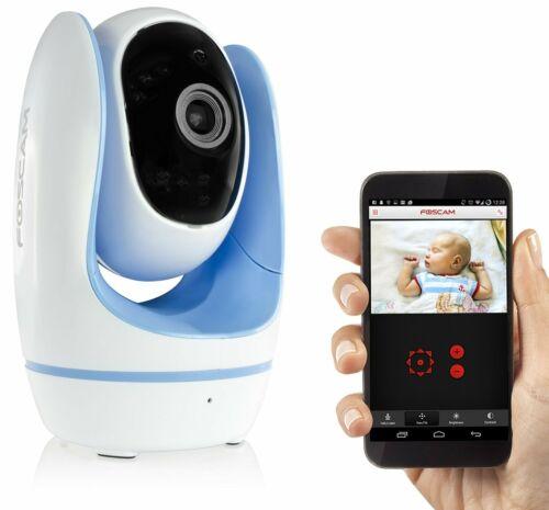 Grade A Foscam Fosbaby 720p HD IP Camera Night Vision Blue Pink Green