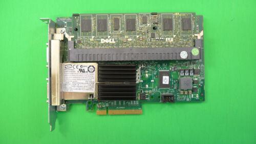 Dell PCIe PERC 6//E SAS External Raid Controller Card w//RAM /& Battery M164C F989F
