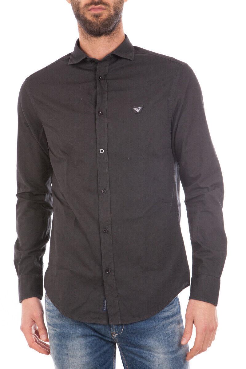 Armani Jeans AJ Shirt Cotton Man Grey 6X6C746N07Z 1990 Sz.L MAKE OFFER