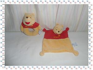K-Doudou-Semi-Plat-Carre-Hochet-Winnie-Rouge-Jaune-Disney-Baby