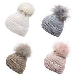 0230db53d2b Super Soft Wool and Angora knitted beanies   detachable real fur pom ...