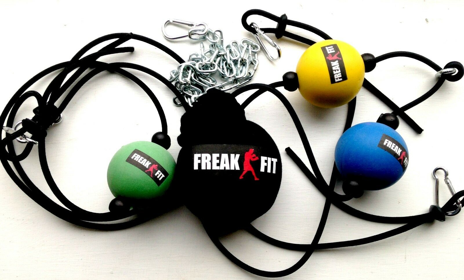 FREAKFIT Double End Dodge Ball Speed Ball Dodge MMA Boxing Floor to Ceiling Punch Slip Bag 27d2bb