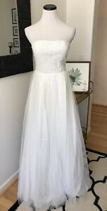 e693df8e23d Lulus Ivory White Tulle Lace Wedding Gown Dress Bridesmaid Formal ...