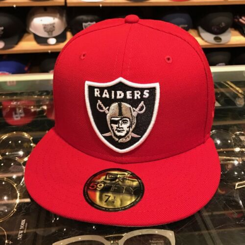 New Era 59fifty Oakland Raiders Fitted Hat RED