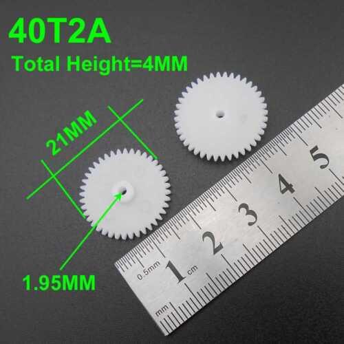 0.5M Plastic Spur Gear 2mm 1.95mm 0.5 Modulus Gears 7-120 Teeth 7T 8T 9T 10T 20T