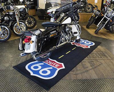 HARLEY DAVIDSON MOTORCYCLE CRUISER CUSTOM ROUTE 66 BIKETEK GARAGE WORKSHOP MAT