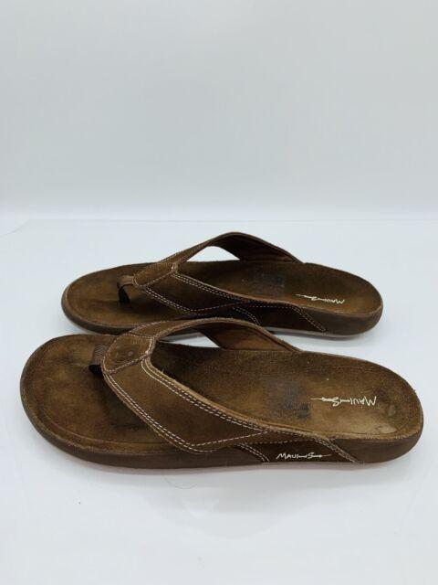 Men/'s Maui /& Sons Flip Flops Sandals Brown Tan Size 10