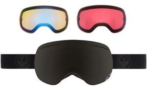 NEW-Dragon-X1-Knightrider-Mens-Ski-Snowboard-Goggles-2-Bonus-Lens-Msrp-200