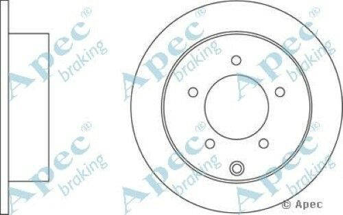 1x OE Quality Replacement Rear Axle Apec Solid Brake Disc 5 Stud 262mm Pair