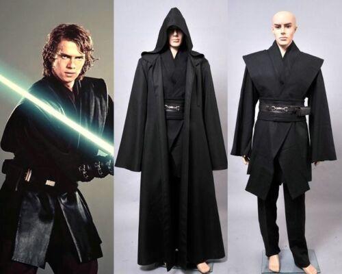 Star Wars : Dark Jedi Sith Darth Vader Adult Black Costume Cloak Robe Cosplay