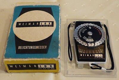 Zuversichtlich Weimar Lux Nova Belichtungsmesser Antiquität Vintage Ostalgie Sammeln Ovp Top !