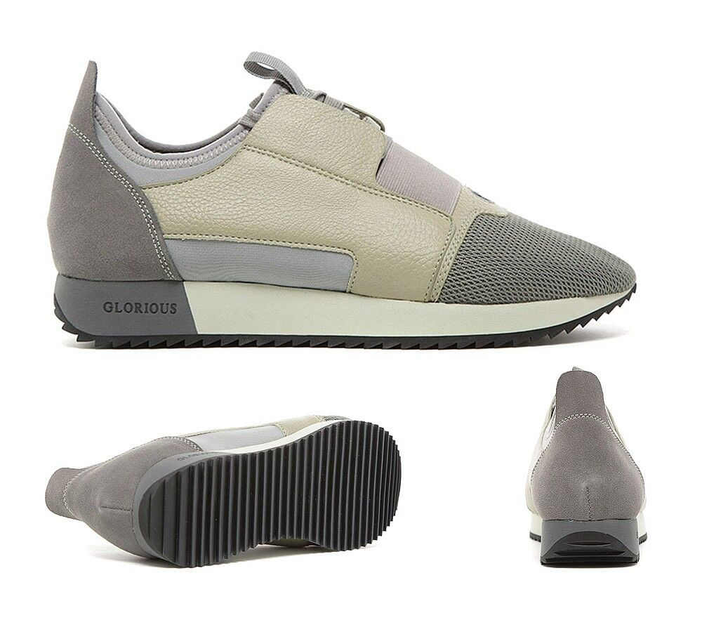 Mens GG By Condemned Nation Runway Runner Grey Stone Trainers RRP