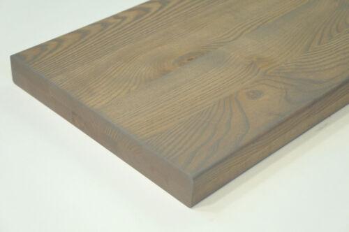 Treppenstufe Regalböden Esche Rustikal 40mm durchgehende Lamellen Graphite geölt