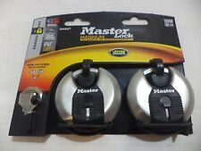 "MasterLock #M40XTCCSEN 2PK 2-3/4"" Disc Padlock Locks Safes & Locksmith Same Key"