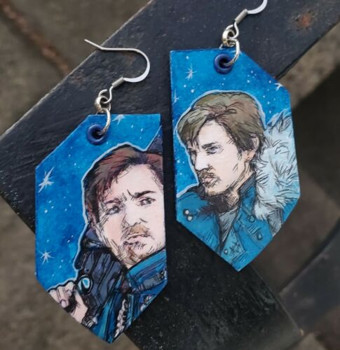 Details about  /Cassian Andor Star Wars Rogue One hand-painted earrings