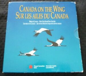 1995-Canada-2-Coin-Silver-Proof-Set-On-the-Wing-w-Original-RCM-Box-Sleeve