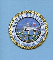 Navsta Naval Station Pearl Harbor Hawaii Us Navy Ship Base Squadron Jacket Patch