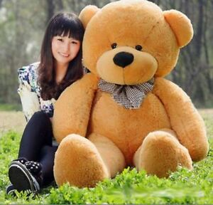 "55in Giant Huge Big Stuffed Animals ""Brown/"" Teddy Bear Plush Soft Toy Doll Gift"
