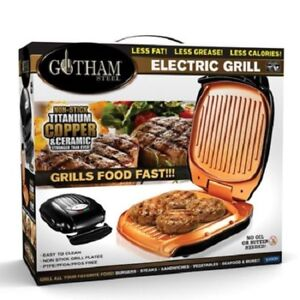 Gotham Steel Low Fat Multipurpose Sandwich Grill with Nonstick Copper Coating!