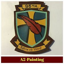 WW2 Hand Painted 95th Bomb Group Leather Patch A2 Or G1 Jacket