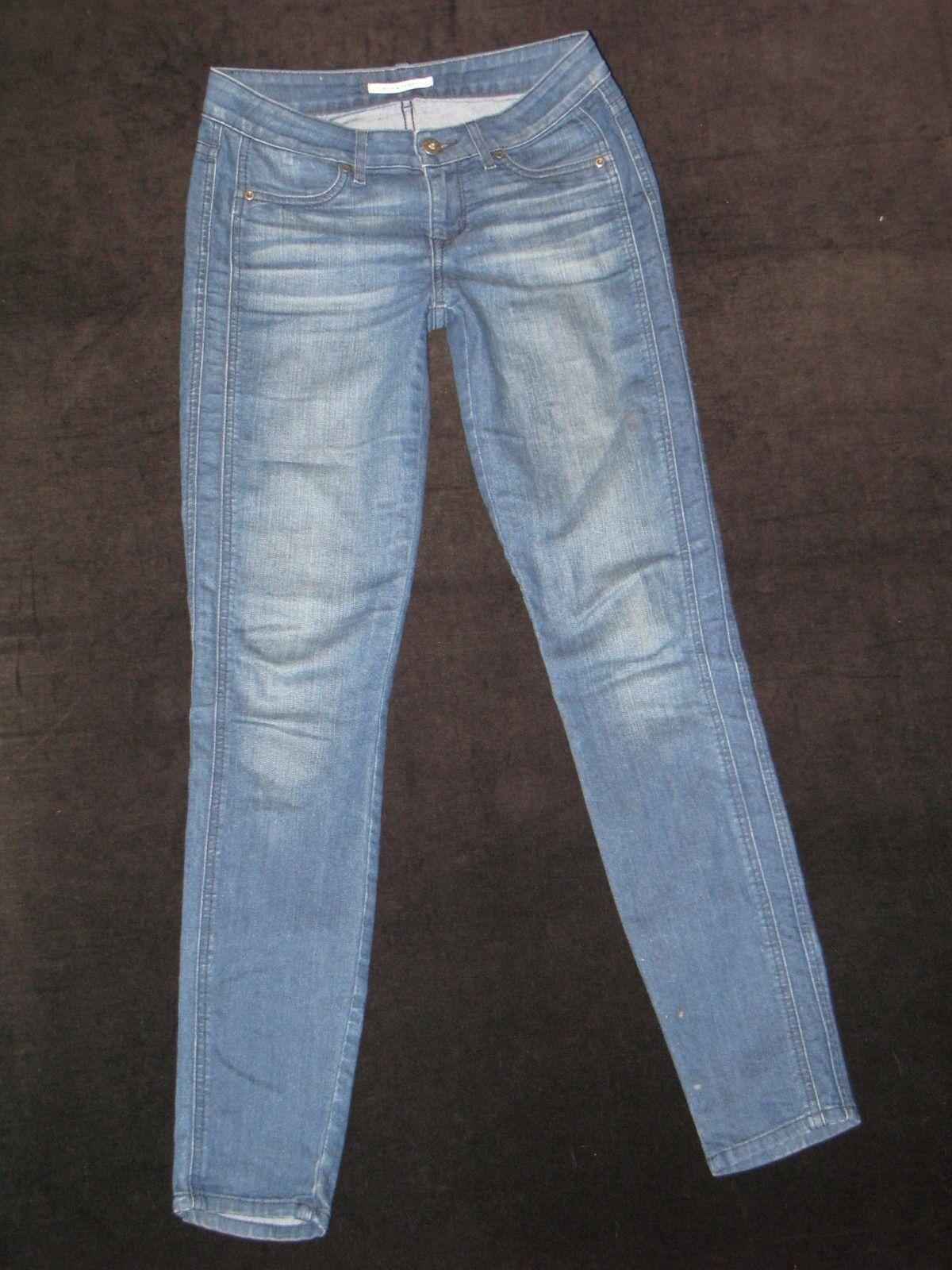 Rich & Skinny Jeans Mid Waist Super Skinny & Stretchy Distressed Sz 26