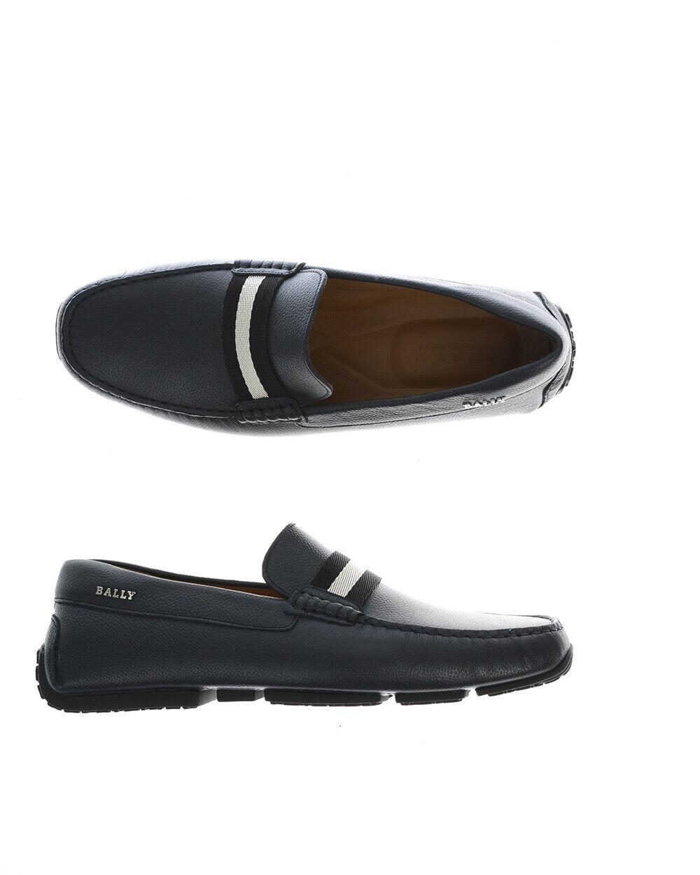 Bally Moccasin Chaussures Pearce en cuir Italie Homme Bleu 6206926 306 sz 40 FAIRE OFFRE